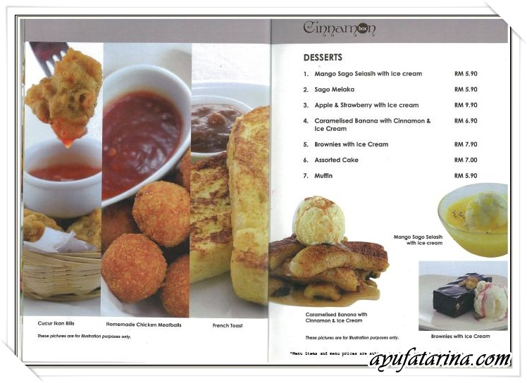 Menu Cinnamon Box 4