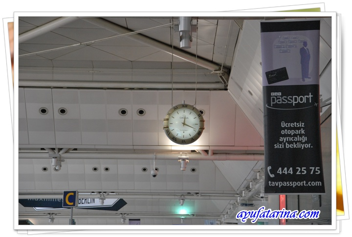 Inside Attaturk Airport 4 Huge Omega Watch