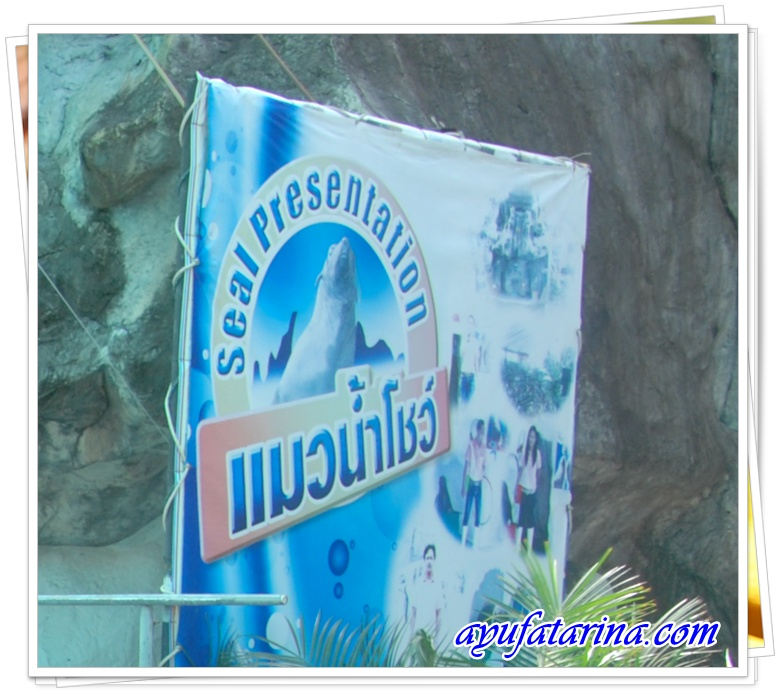 Seal Presentation Signboard Songkhla Zoo