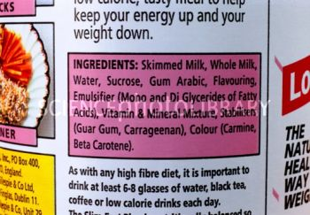 T9300164-Ingredients_label_on_slimming_milk_drink-SPL