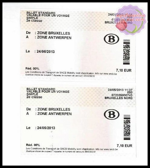 Train Ticket Price from Brussels to Antwerp