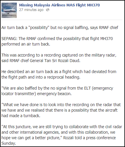 MH370 latest news