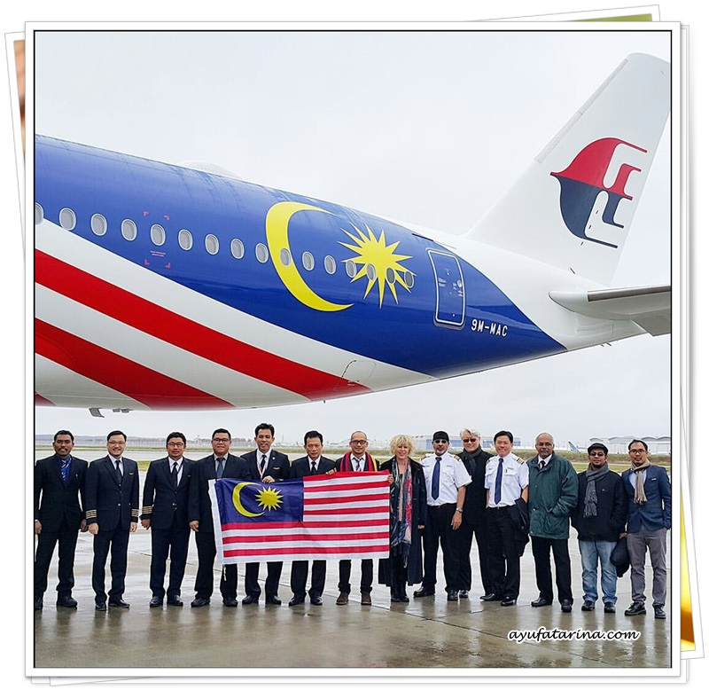 Team Airbus A350 Delivery Malaysia Airlines